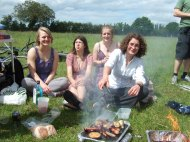 BBQ on Granchester Meadows with new friends