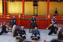 Taiko performances are a typical summer scene