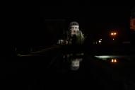 Floodlit at night