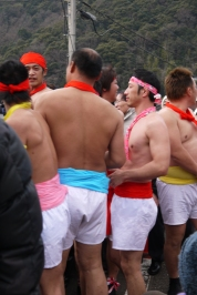 Colourful sashes and freezing bodies!