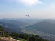 Paragliders at Shishiku Heights in Ishikawa