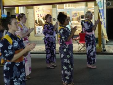 Dancing in the Takefu Obon festival