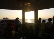 The sunset on the ferry back from Naoshima