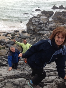 A typical Walker holiday - climbing cliffs in Cornwall.